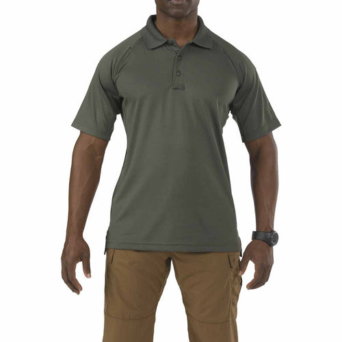 5.11 tactical performance short sleeve polo shirt tdu green