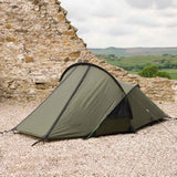 pitched and closed up snugpak scorpion 2 man tent