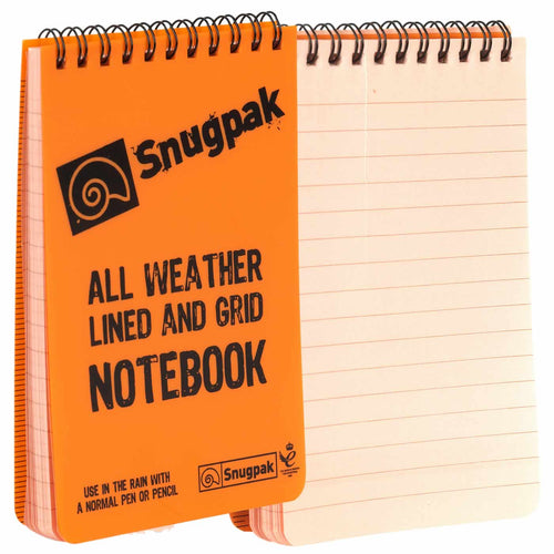 snugpak waterproof notepad orange