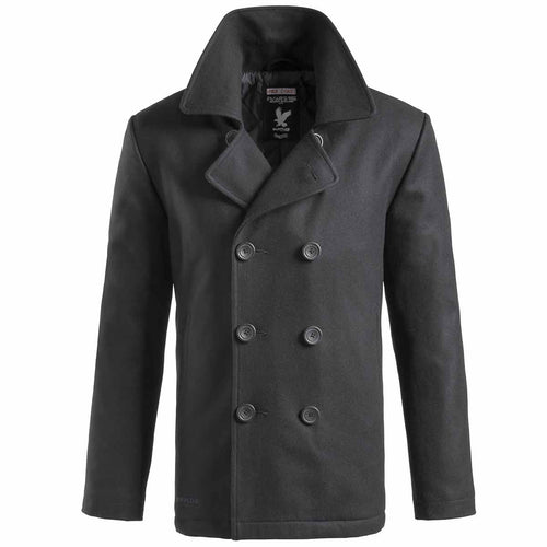 surplus mens black pea coat