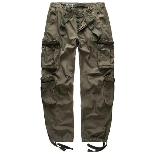 surplus raw vintage olive cargo trousers