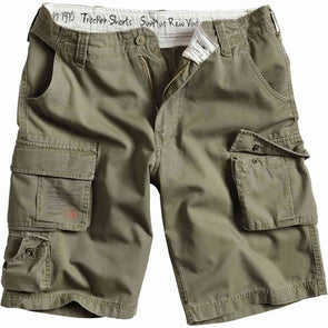 surplus raw vintage olive green trooper shorts