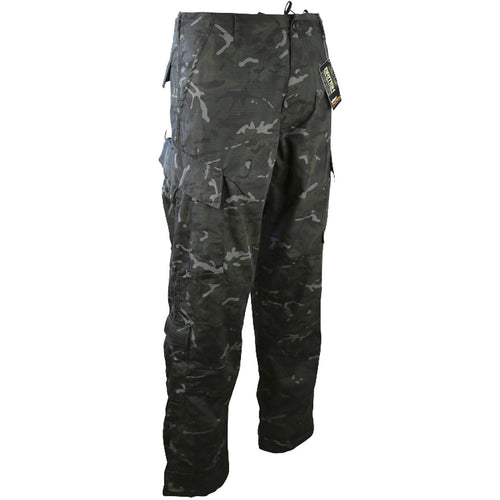 kombat black camo acu assault trousers