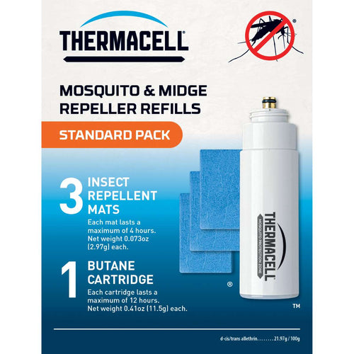 thermacell backpacker mat and gas refills standard