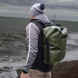 ussen h2ology waterproof olive backpack