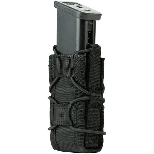 side view of viper elite pistol mag pouch black with mag