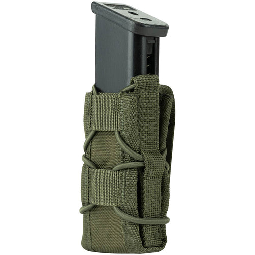 side view of viper elite pistol mag pouch green with mag