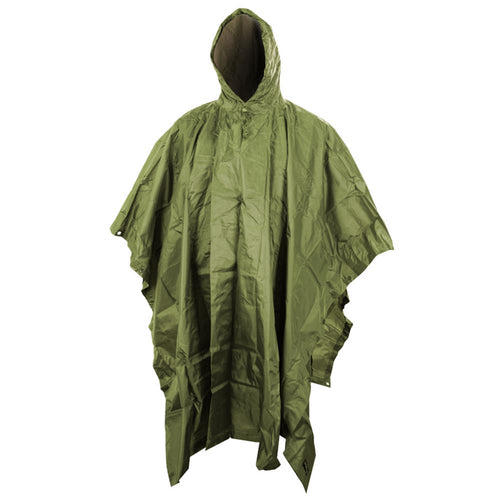 kombat olive green waterproof poncho