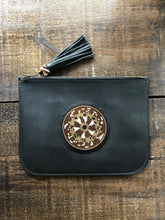 Load image into Gallery viewer, BEADWORKS BLACK CLUTCH