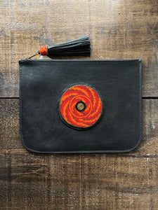 BEADWORKS BLACK CLUTCH