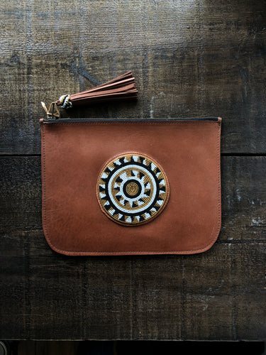 BEADWORKS SAFI BROWN CLUTCH