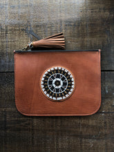 Load image into Gallery viewer, BEADWORKS SAFI BROWN CLUTCH