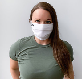 Tultex - Pleated Reusable Face Mask (White)