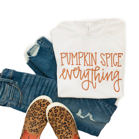 Pumpkin Spice Everything Tee-White