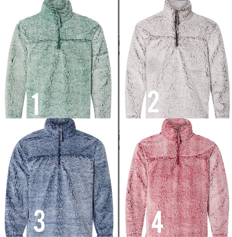 Sherpa Quarter-Zip Pullover (YOU CHOOSE THE COLOR)