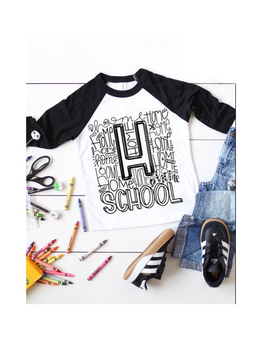 Homeschool Raglan (Sizes 4t-2XL)