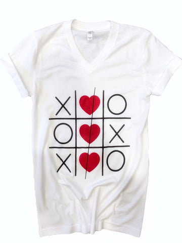 XOXOXO Tee/Onesie (Newborn- 2XL) Red