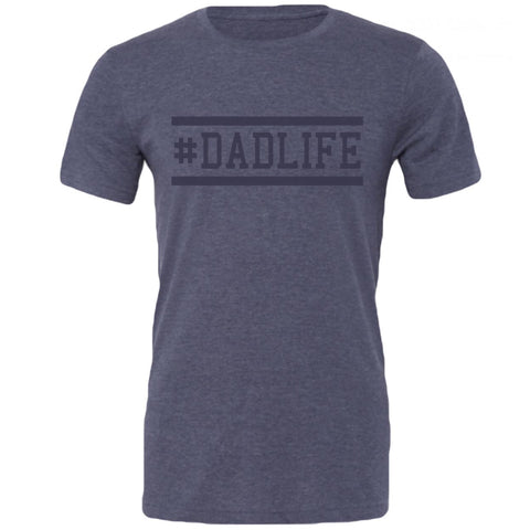 The Original #DADLIFE Tee in Tri Navy with Navy lettering
