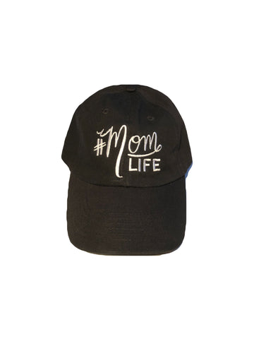 "#MOMLIFE Hat (Black & White) Relaxed ""Dad"" Style"