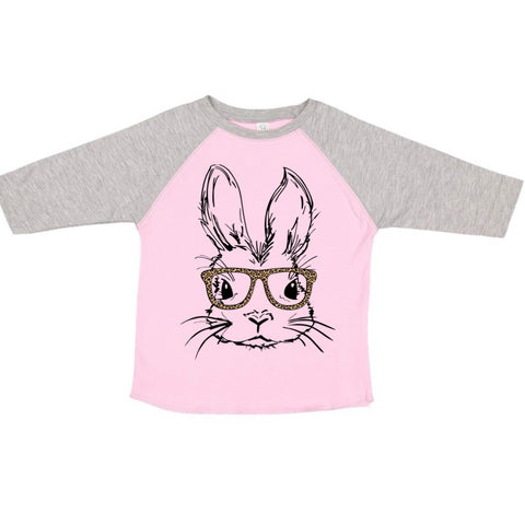 Girl Bunny Pink + Vintage Heather Raglan  (TODDLER-ADULT)
