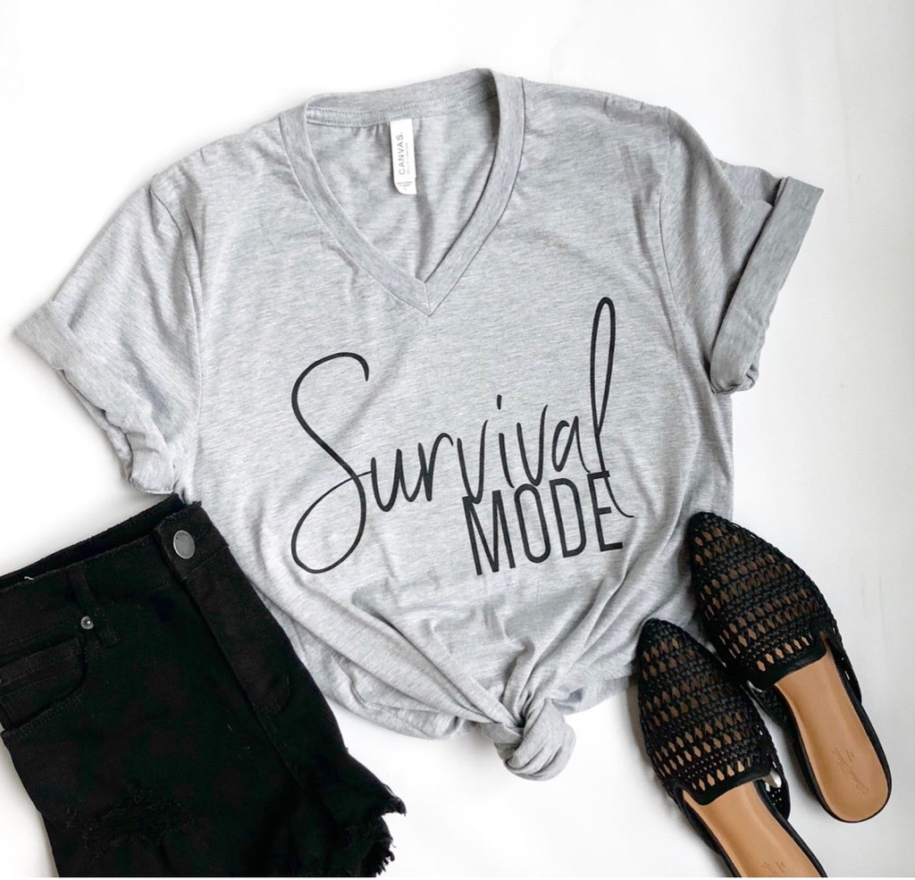"$20 ""Deal of the Week"" Survival Mode  (CREW neck or V-neck options)"