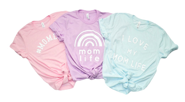 #MOMLIFE Light Pink Tri-blend Tee