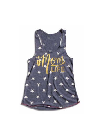 #MOMLIFE Star Tank with Gold Lettering (Ready to Ship)