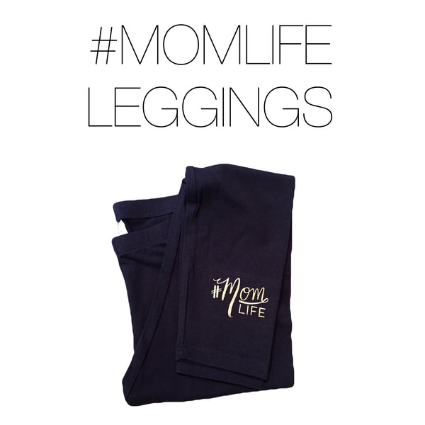 #MOMLIFE Cotton Spandex Legging with Gold
