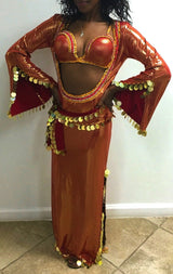 Scoop Out Front Belly Dance Costume