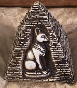 Egyptian Cat with Pyramid