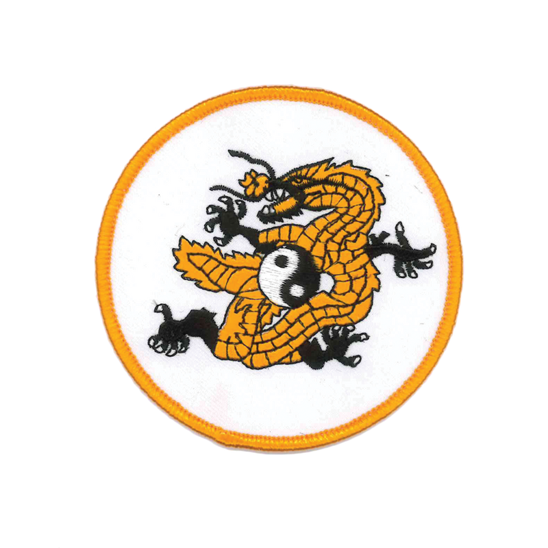1115 Yin Yang Dragon Patch 3.5""