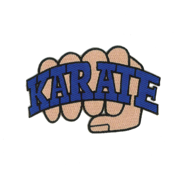 "1132 Karate Fist Patch 4.5""W"
