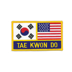 "1135 KOR/USA TKD Flag Patch 4.75""W"