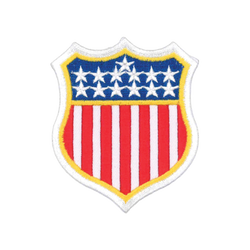 "1137 USA Flag Badge 3.25""H"