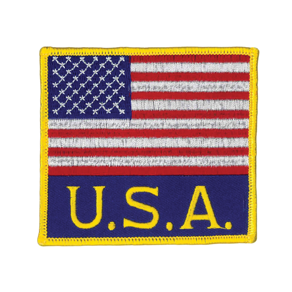 1147 American/USA Flag Patch 3.5""