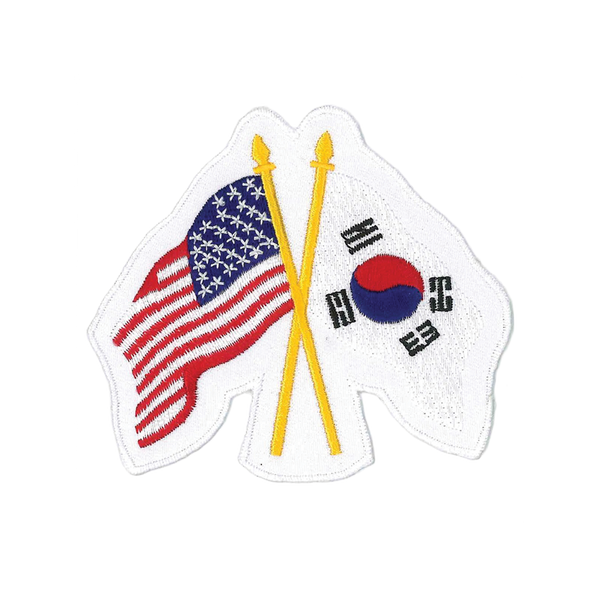 "1166 - USA and Korea Patch 3.75""H"