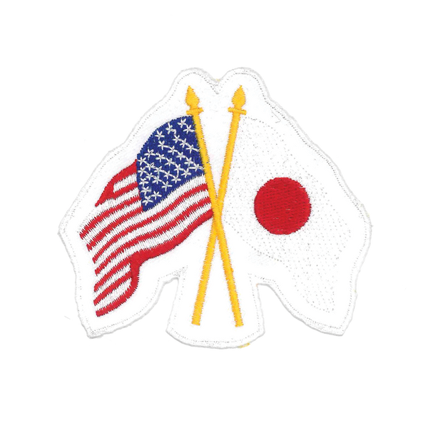 "1167 USA and Japan Patch 3.75""H"