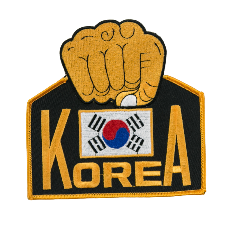 1169 Korean Flag and Fist Patch 5""