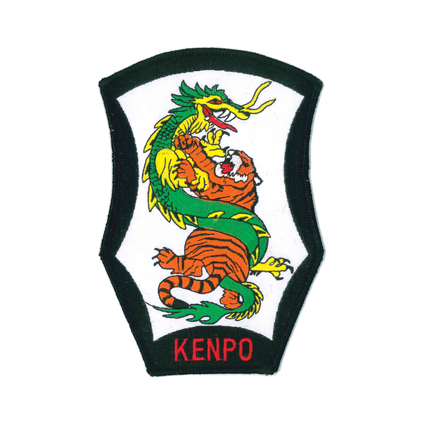 "1174 Kenpo Tiger and Dragon Patch 6.75""H"