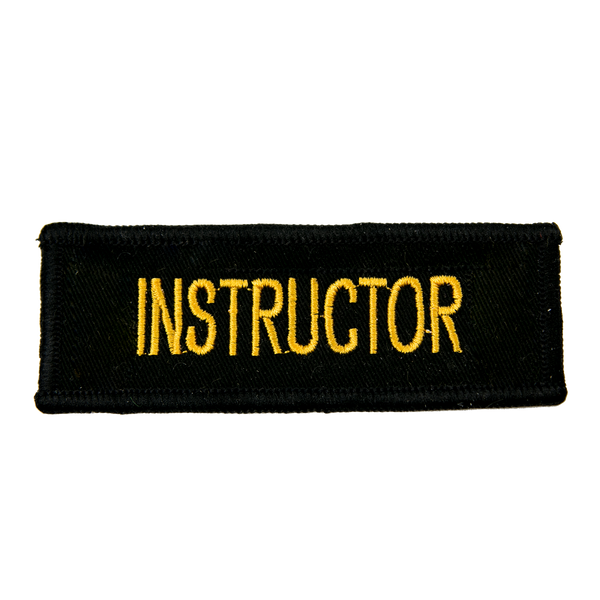 "1192 Instructor Patch 4""W"