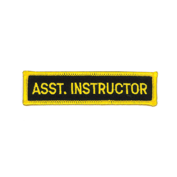 "1193 Assistant Instructor Patch 4""W"