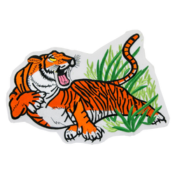 "1212 Tiger on Grass Patch 10""W"