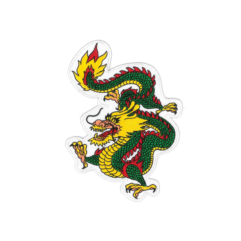 "1214 Gold Dragon Patch 6""H"