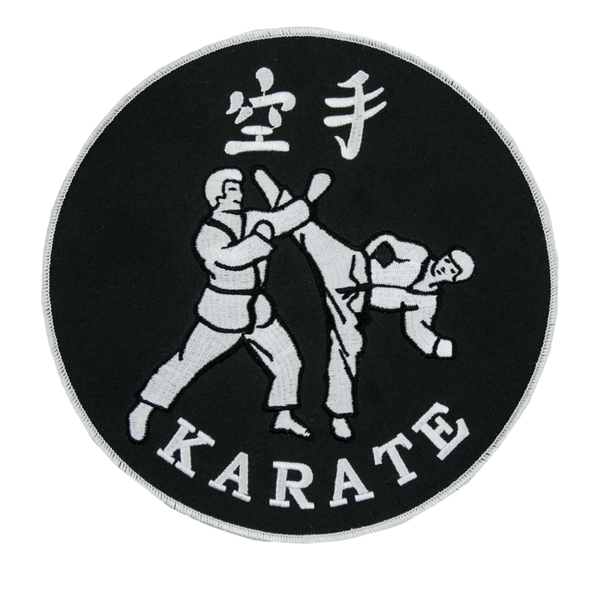 1223 Karate Punch Patch 8""