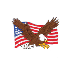 "1232 Eagle Flag Patch 3.5""W"