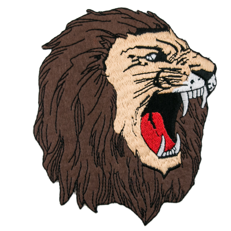1236 Lion Head Patch 5""