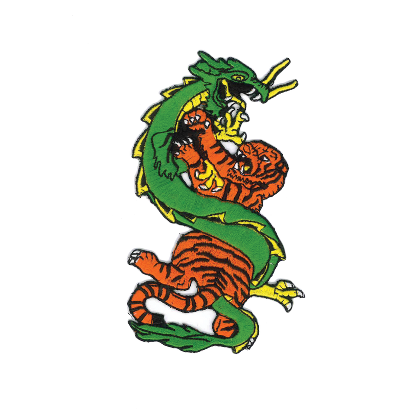 "1241 Tiger & Dragon Patch 5""H"