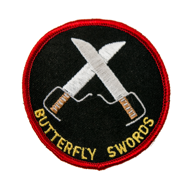 1244 Butterfly Swords Patch 3""