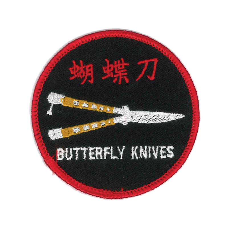 1249 Butterfly Knife Patch 3""