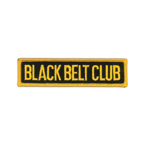 "1263 Gold Black Belt Club Patch 4""W"